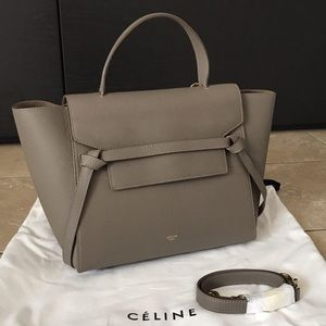 Celine belt mini gray NEver used